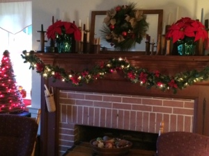 One of the mantels in our house.